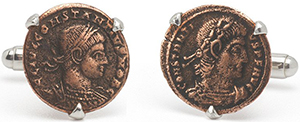 Tokens & Icons Roman Coin Cuff Links: US$290.