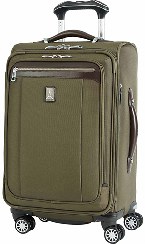 Travelpro Platinum Magna 2 21-Inches Expandable Spinner Suiter, Olive.