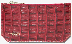 Uterqüe women's Small card holder with a zipped coin compartments: £40.