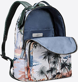 Hawaiian couture Valentino Garavani backpack in printed nylon: US$2,295.