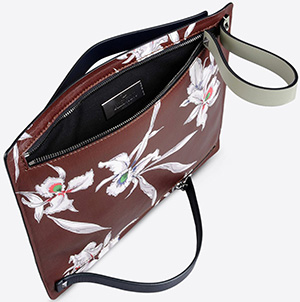 Valentino Garavani leather clutch with orchids print: US$1,345.