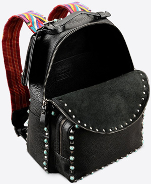 Valentino Garavani Rockstud Rolling medium backpack in calfskin: US$4,295.