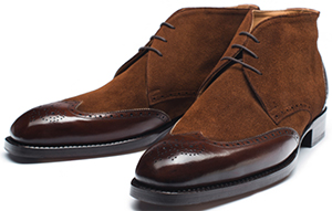 Vass Men's Shoes Model: 1410 calf leather - antic cognac - suede - mid brown.