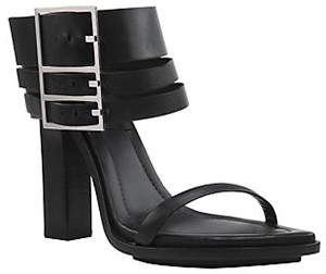 Versus Tri-Buckle Strap Sandals: US$745.