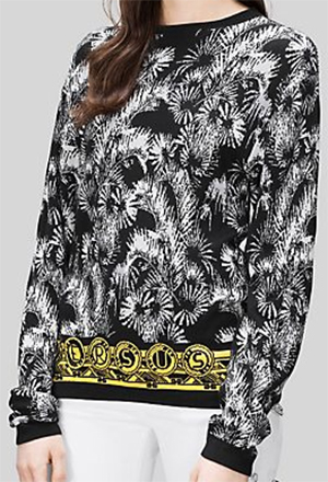 Versus Women's Palm Print Sweatshirt: US$350.