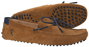 Vicomte A. men's camel driver suede shoes: €165.