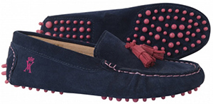 Vicomte A. women's navy driver suede shoes: €150.