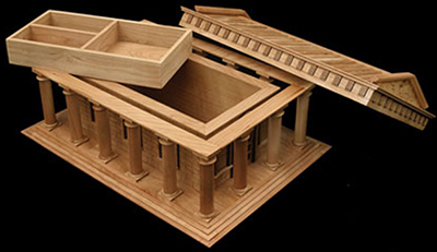 Steve Vigar Designs Greek Temple jewelry box.