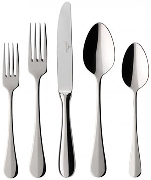 Villeroy & Boch Coupole 40-Piece Flatware Set: US$199.95.