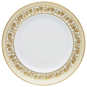 Vista Alegre Dinner Plate Anna. Pieces decorated with gold, with a touch of class and refinement: €89.