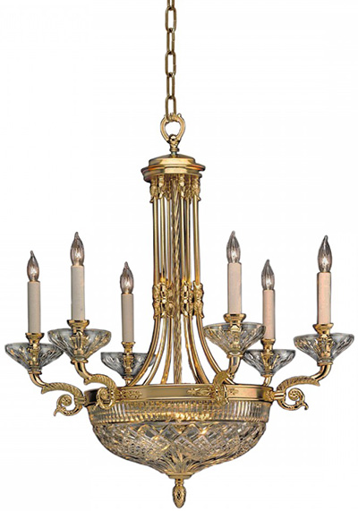 Waterford Waterford Beaumont 9-Arm Chandelier: US$2,800.