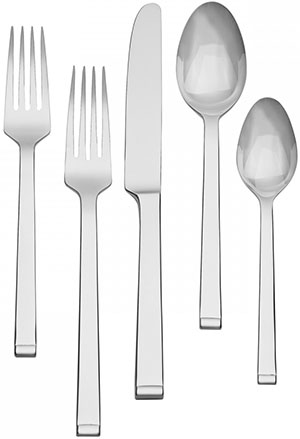 Wedgwood Arden Stainless Steel 45-Piece Flatware Set: US$199.