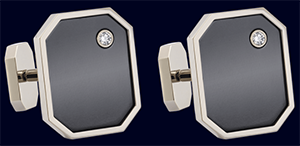 Zalium Cufflinks by Harry Winston.