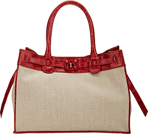 Zagliani Crocodile-Trim Gatsby Small Tote: US$16,300.