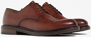Zara Brown Men's Leather Bluchers.