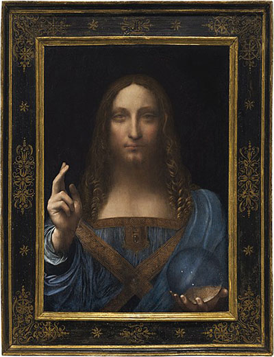 Salvator Mundi (c. 1500) by Leonardo da Vinci - World's Most Expensive Painting (US$450.3 million).