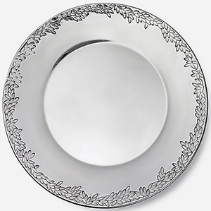 Svenskt Tenn Pewter Plate Myrten Narrow Rim: US$280.