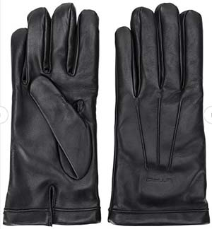 Etro embossed logo men's gloves: £245.