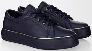 Max Mara women's Leather sneakers: US$155.