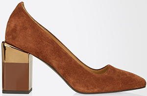 Max Mara women's Suede leather pumps: US$585.
