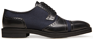 La Perla men's leather & cotton canvas Derby shoes: US$650.