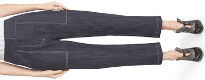 Adam Lippes Crop Stretch Denim Twill women's Pants: US$590.