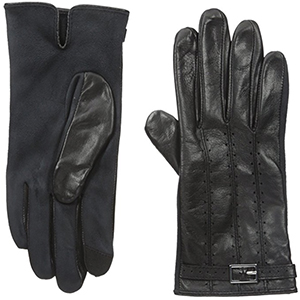 Adrienne Vittadini Women's Leather & Faux Suede Touchscreen Gloves: US$88.