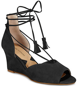 Adrienne Vittadini Marcey Lace-Up Wedges.