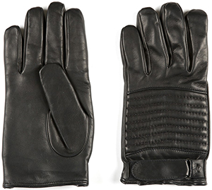 Alberto Guardiani men's black leather gloves: €143.
