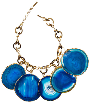 Alexis Mabille women's large agate necklace.