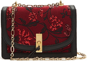 Altuzarra women's Ghianda floral-brocade shoulder bag.