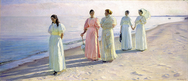 A Stroll on the Beach (1896) by Michael Ancher.