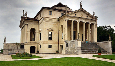 Villa Capra 'La Rotonda', Vicenza, Italy designed by Andrea Palladio. Photo by Stefan Bauer.