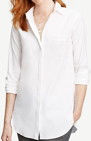 Ann Taylor oversized women's shirt: US$79.50.