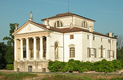 Villa Molin, Mandria, Padua, Italy designed by Vincenzo Scamozzi. Photo by Milazzi.