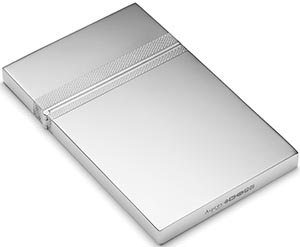 Asprey hallmarked sterling silver card case with Asprey's signature barley pattern: US$680.