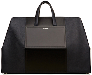 La Perla men's calfskin leather weekend bag.