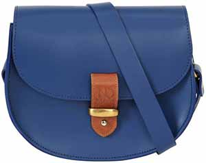 N'Damus London Victoria Blue Saddle Bag: £325.