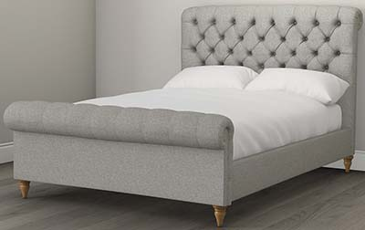 The White Company Aldwych Tweed Scroll Bed from £2,150.