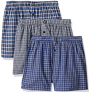 Geoffrey Beene Men's 3 Pack Soft Finish Assorted Boxers: US$15.99.