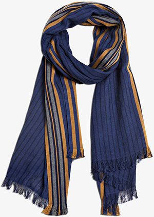 Berluti Striped Cotton Scarf: US$530.