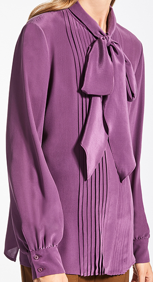 Max Mara Silk crêpe de chine women's shirt: US$350.