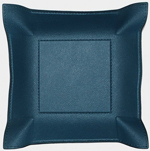 William Yeoward Leather Valet Tray - Petrol Blue: £85.