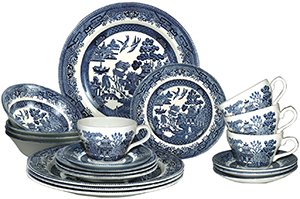 Churchill Blue Willow 20 Piece Dinner Set, Made In England: US$125.