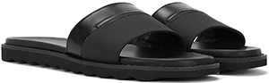 Hugo Boss men's Leather slippers with patent leather trim Slippers: £99.