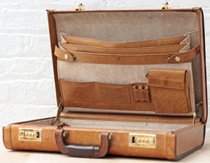 Renwick Leather Briefcase.