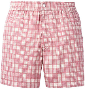 Brioni men's checked swimming shorts: £205.