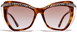 Etro women's Brown Butterfly-Frame sunglasses: US$375.