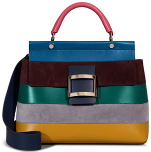 Roger Vivier Viv' Cabas Small Stripes Bag.