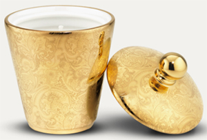 Stefano Ricci Scented Candle Gold Fine Paisley: US$280.